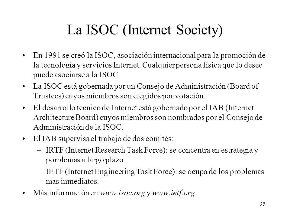 La ISOC (Internet Society)