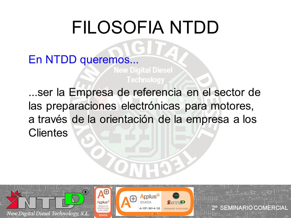 FILOSOFIA NTDD En NTDD queremos...
