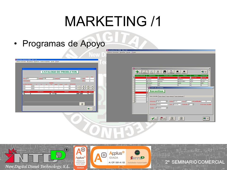 MARKETING /1 Programas de Apoyo I SEMINARIO COMERCIAL