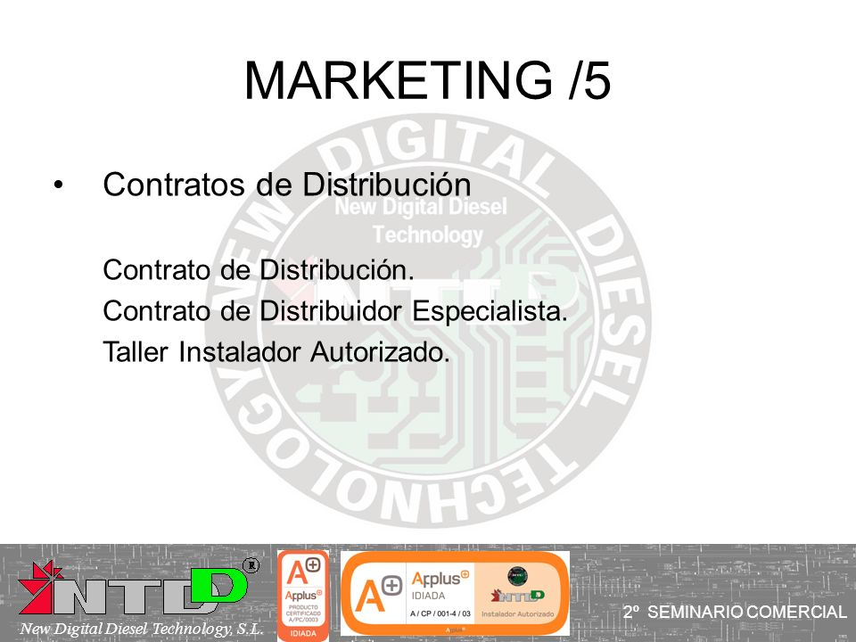 MARKETING /5 Contratos de Distribución Contrato de Distribución.