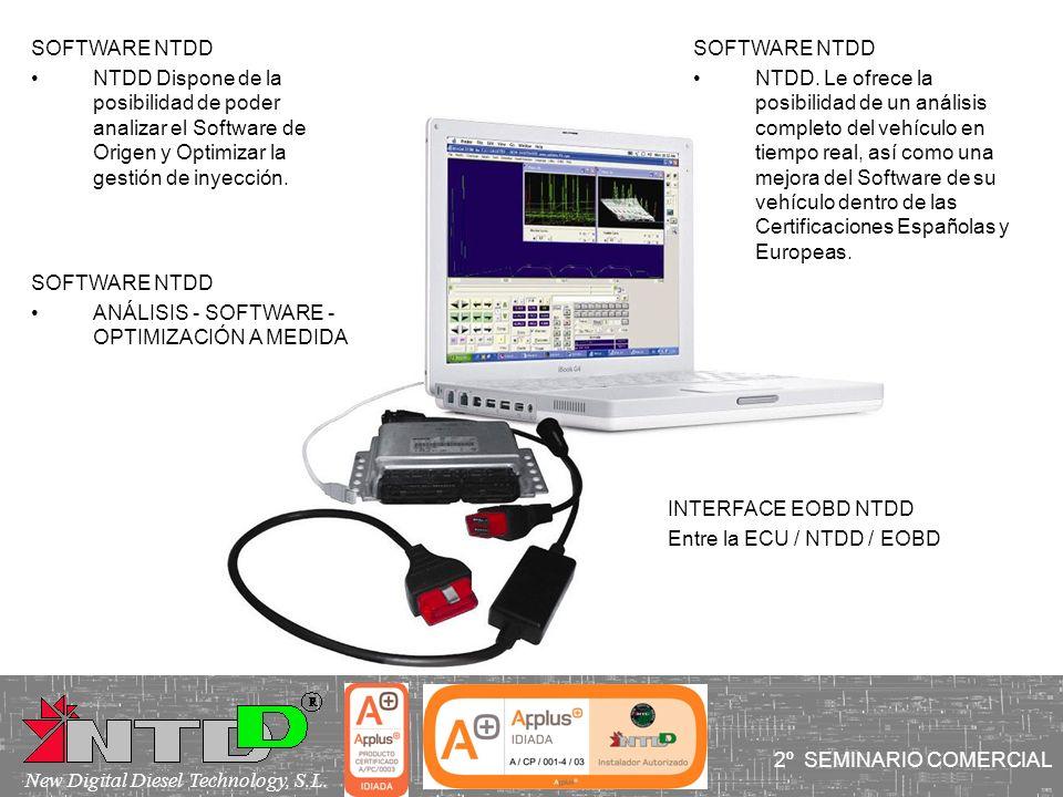 SOFTWARE NTDD NTDD Dispone de la posibilidad de poder analizar el Software de Origen y Optimizar la gestión de inyección.