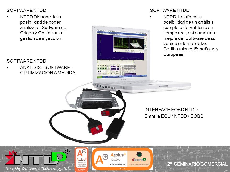 SOFTWARE NTDDNTDD Dispone de la posibilidad de poder analizar el Software de Origen y Optimizar la gestión de inyección.