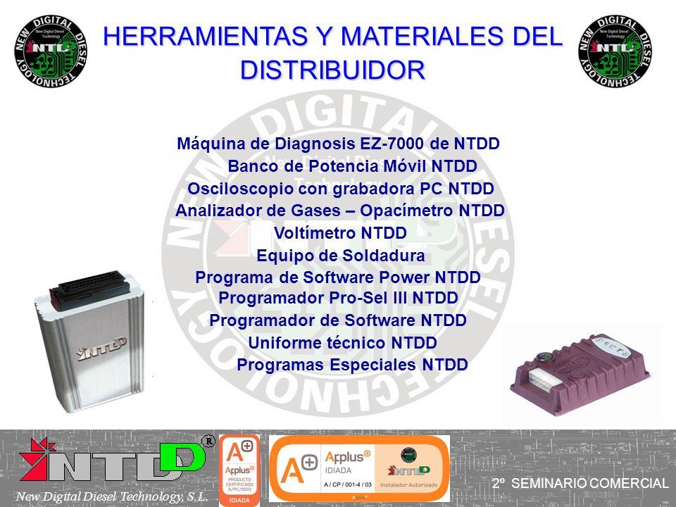 HERRAMIENTAS Y MATERIALES DEL DISTRIBUIDOR