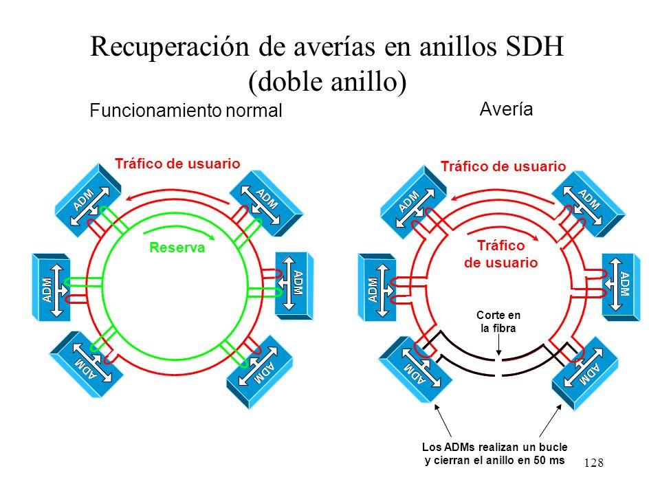Los ADMs realizan un bucle y cierran el anillo en 50 ms
