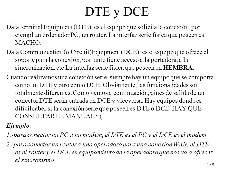 DTE y DCE