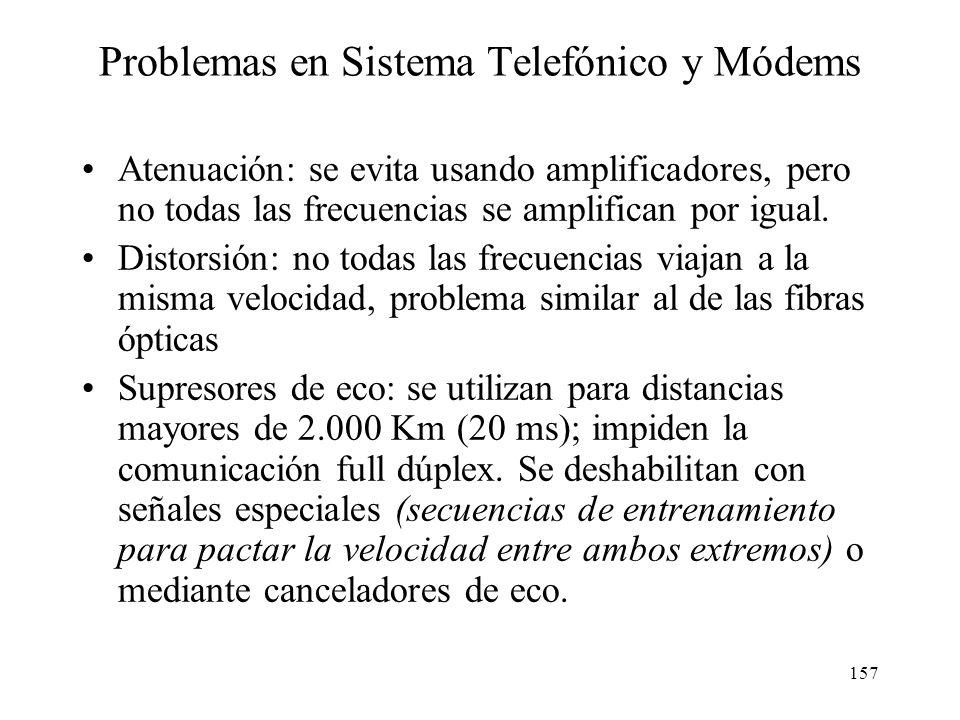 Problemas en Sistema Telefónico y Módems