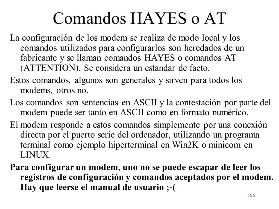 Comandos HAYES o AT