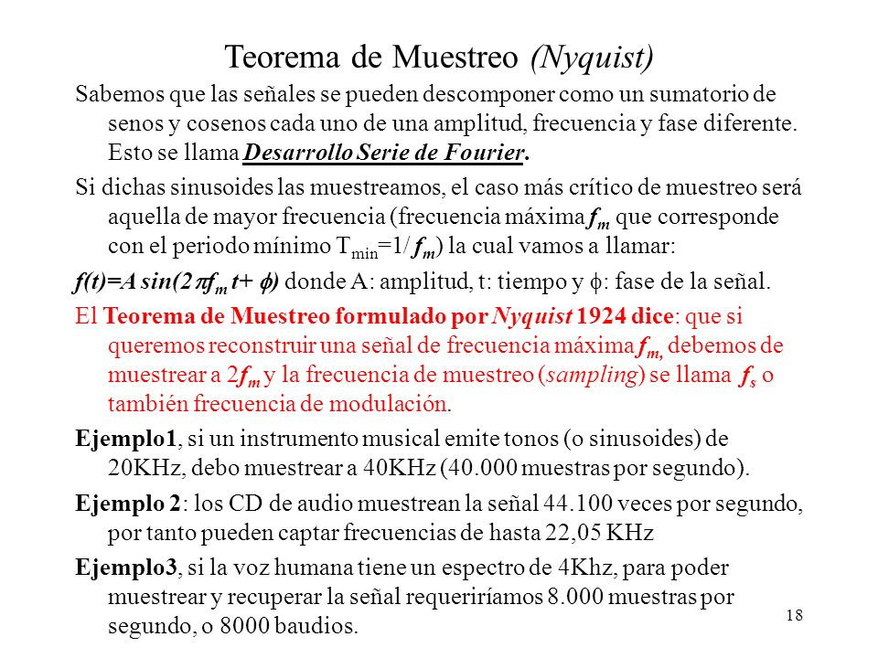 Teorema de Muestreo (Nyquist)