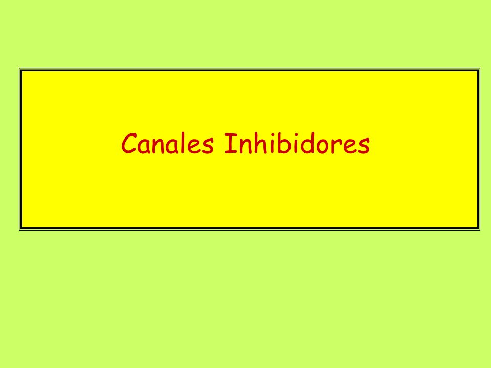 Canales Inhibidores