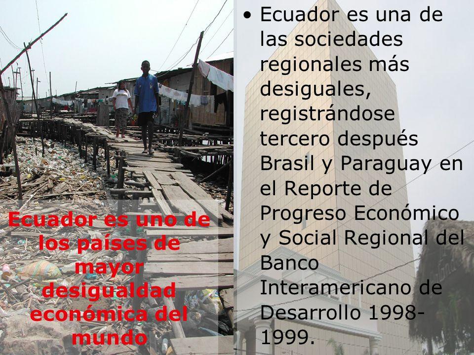 Ecuador es uno de los países de mayor desigualdad económica del mundo