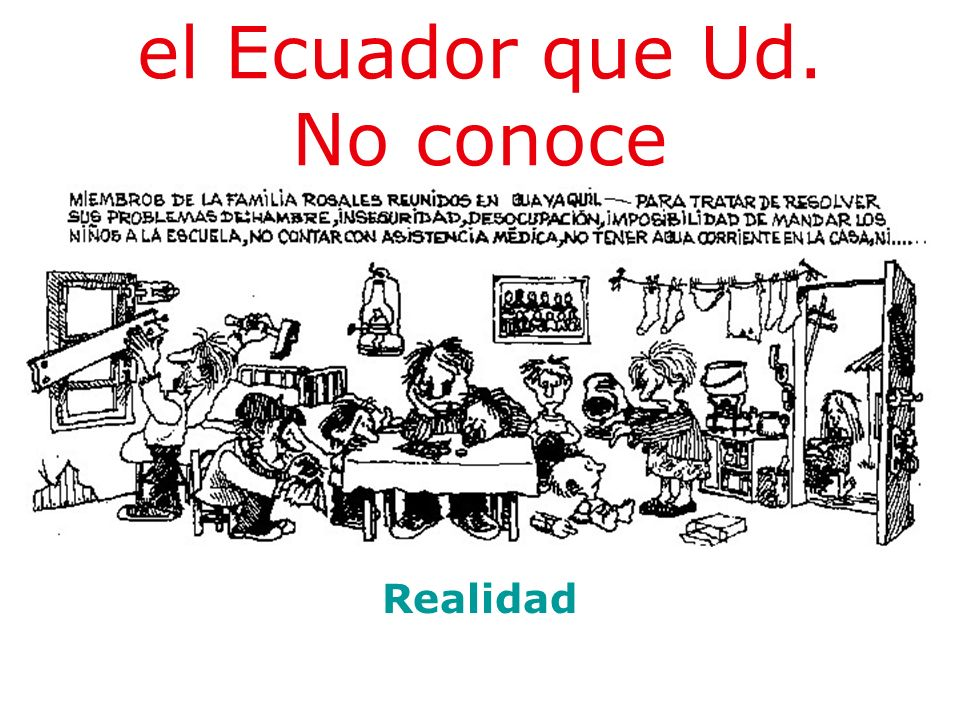 el Ecuador que Ud. No conoce