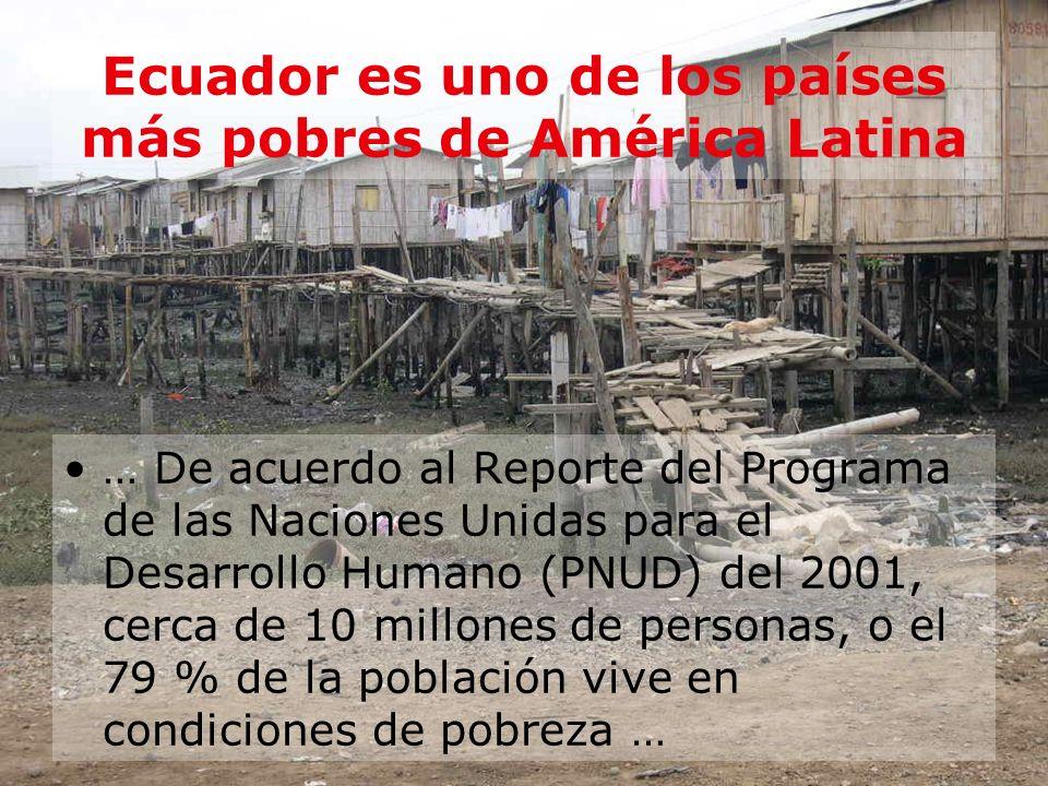 Ecuador es uno de los países más pobres de América Latina
