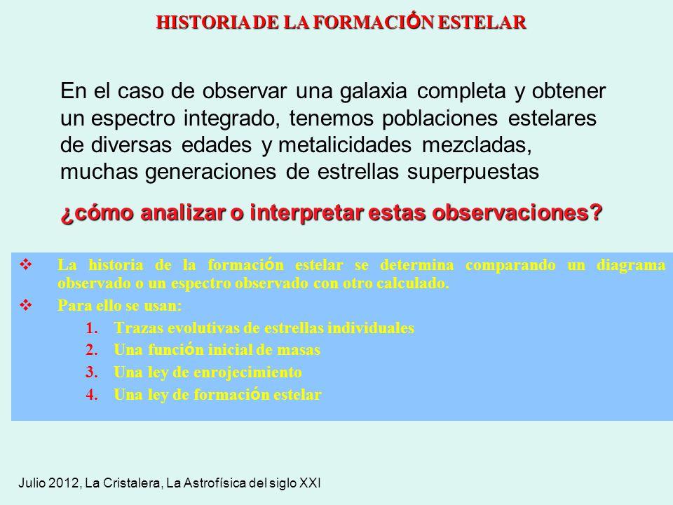 HISTORIA DE LA FORMACIÓN ESTELAR