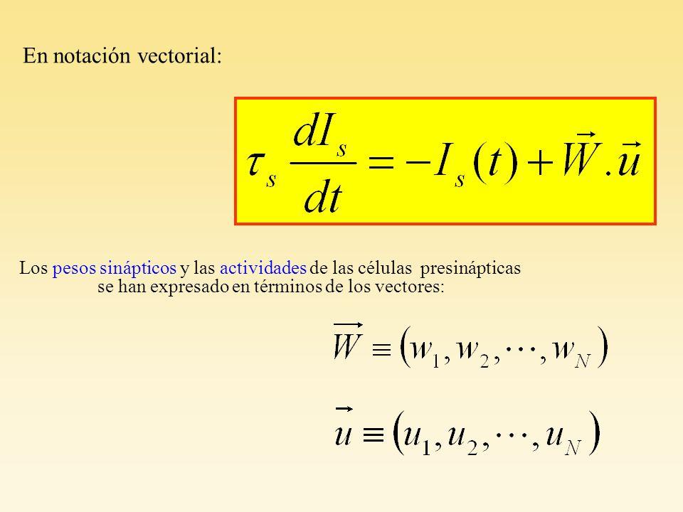 En notación vectorial: