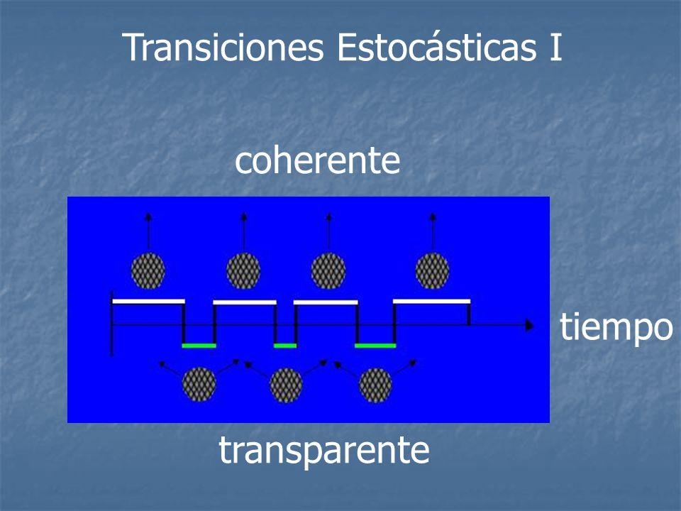 Transiciones Estocásticas I