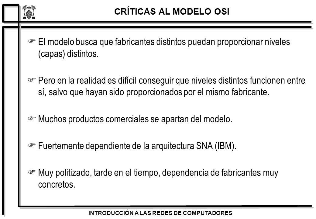 Muchos productos comerciales se apartan del modelo.