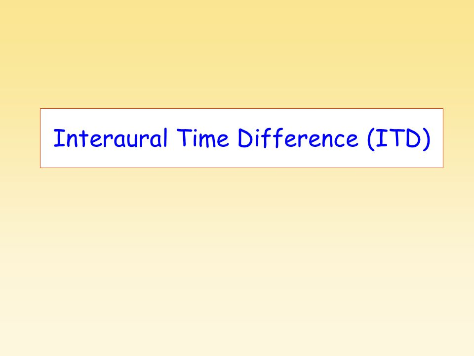 Interaural Time Difference (ITD)