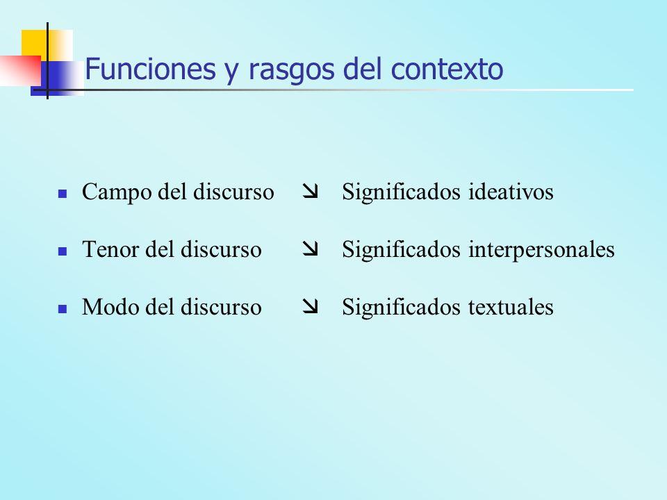 Funciones y rasgos del contexto