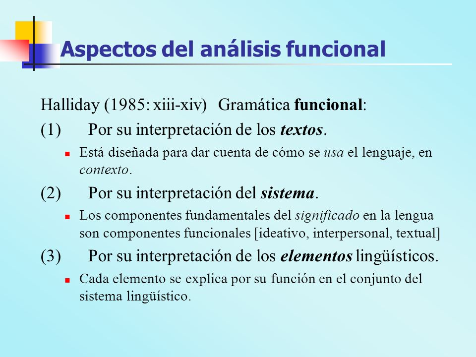 Aspectos del análisis funcional