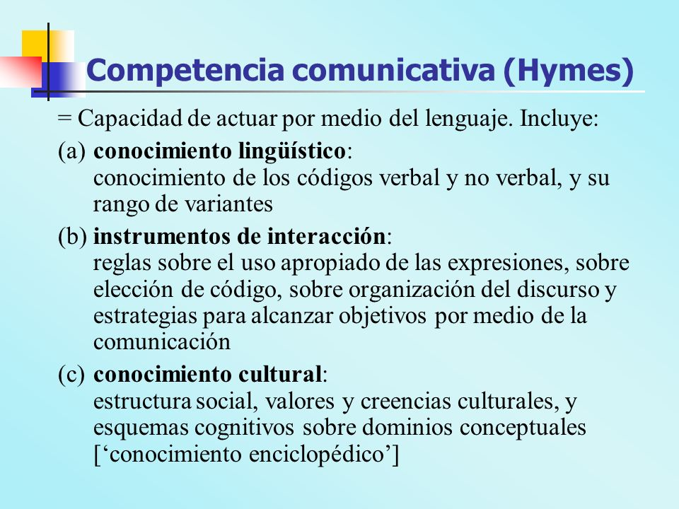 Competencia comunicativa (Hymes)