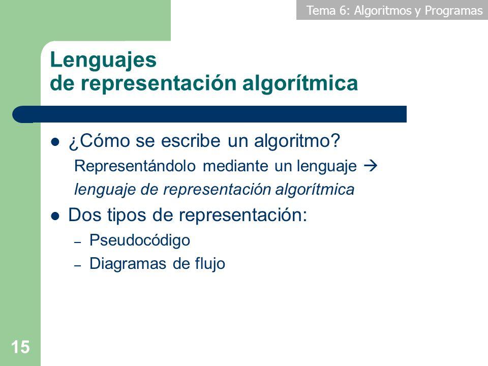 Lenguajes de representación algorítmica