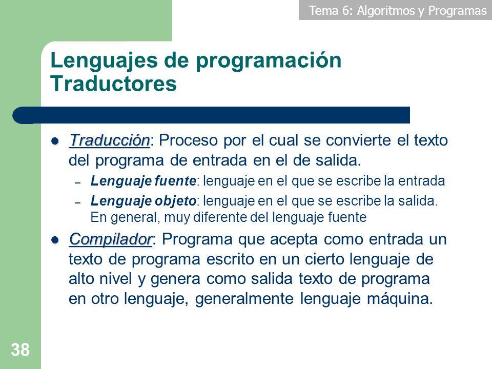 Lenguajes de programación Traductores