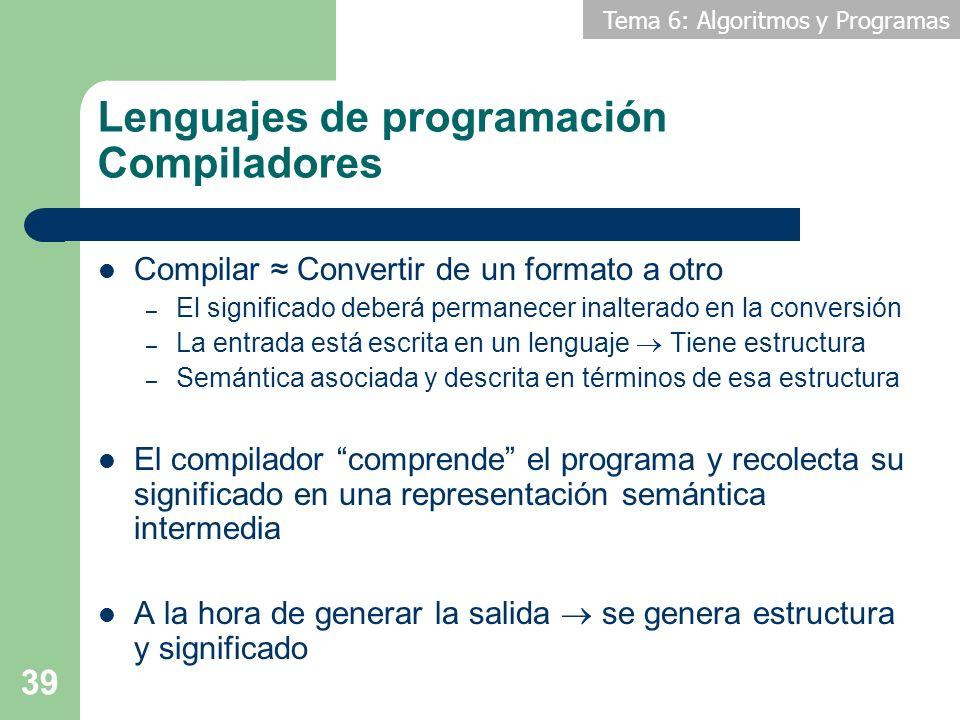 Lenguajes de programación Compiladores