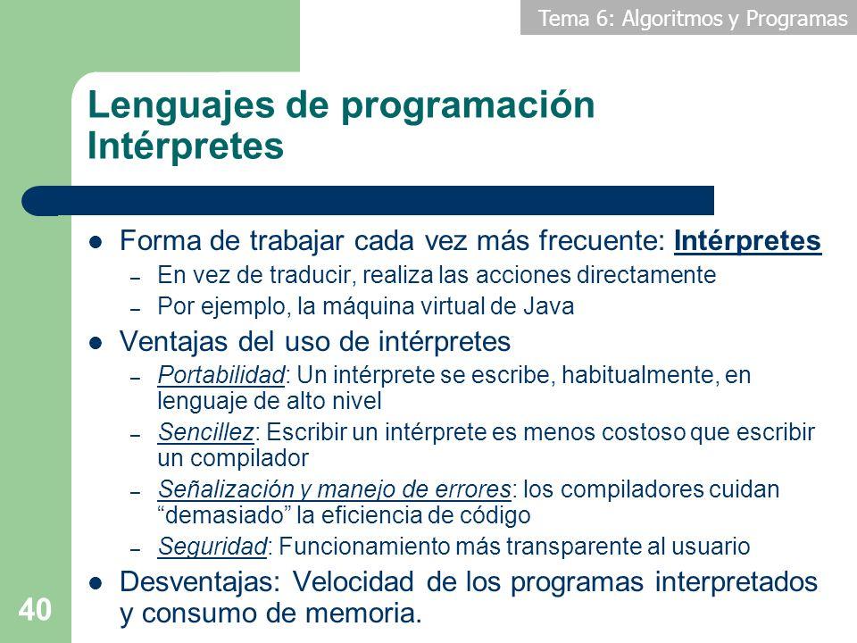 Lenguajes de programación Intérpretes