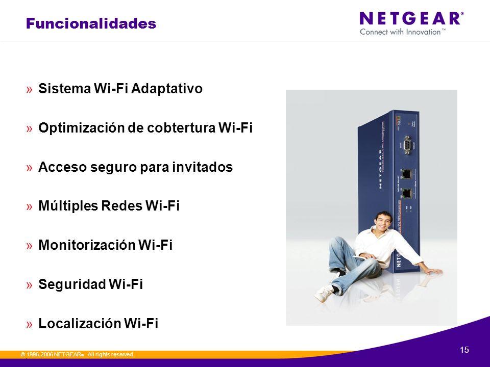 Funcionalidades Sistema Wi-Fi Adaptativo