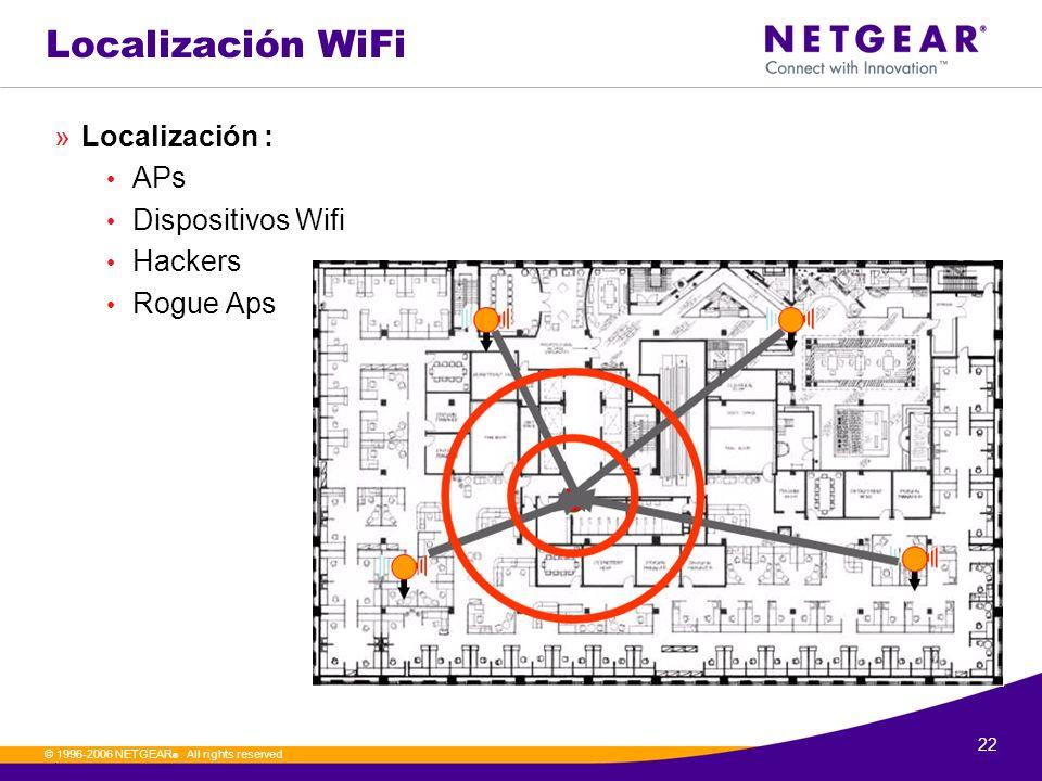 Localización WiFi Localización : APs Dispositivos Wifi Hackers