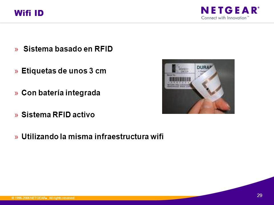 Wifi ID Sistema basado en RFID Etiquetas de unos 3 cm