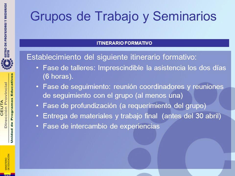Grupos de Trabajo y Seminarios