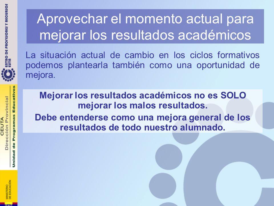 Aprovechar el momento actual para mejorar los resultados académicos