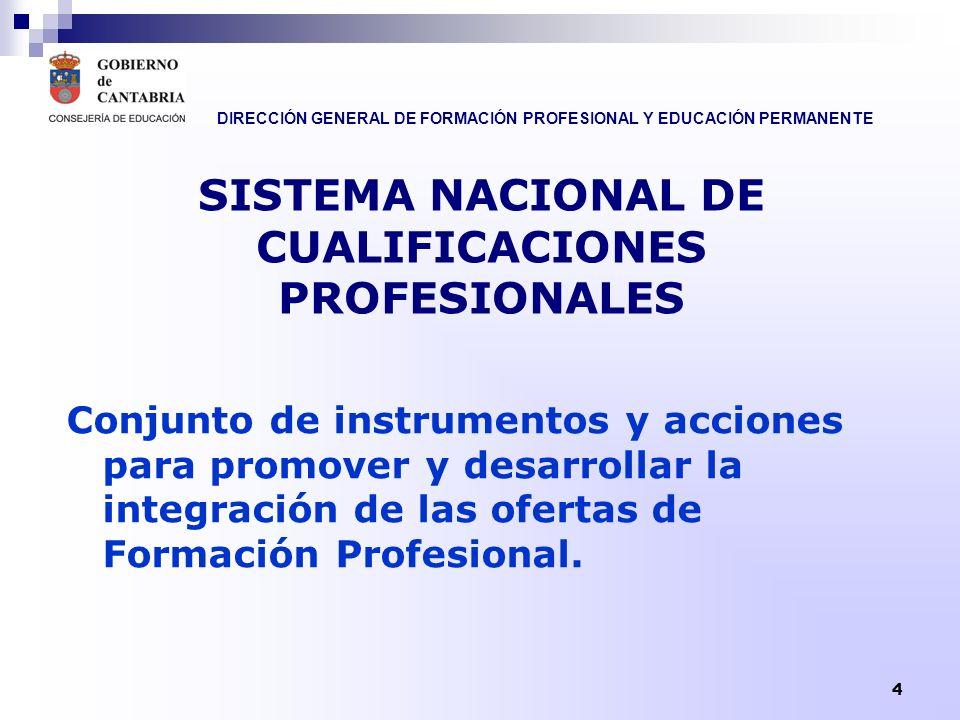 SISTEMA NACIONAL DE CUALIFICACIONES PROFESIONALES