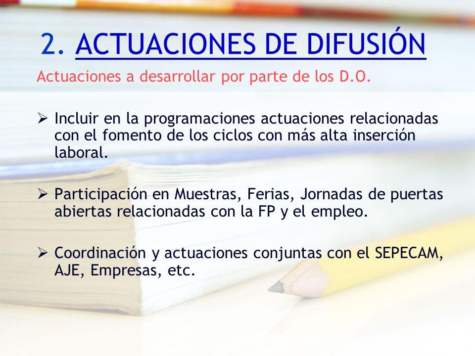 2. ACTUACIONES DE DIFUSIÓN