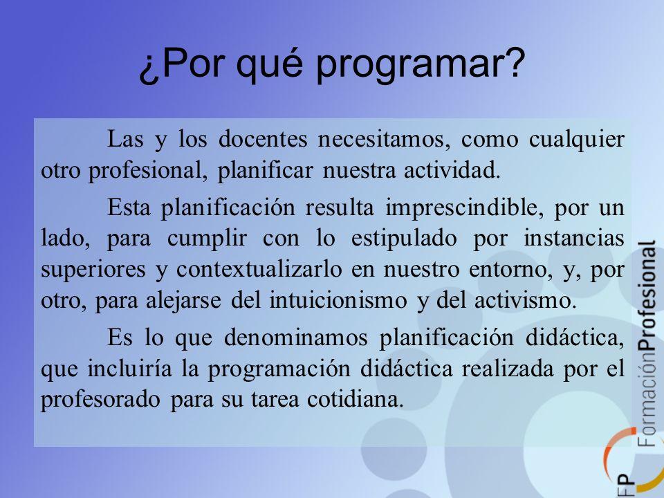 ¿Por qué programar Las y los docentes necesitamos, como cualquier otro profesional, planificar nuestra actividad.