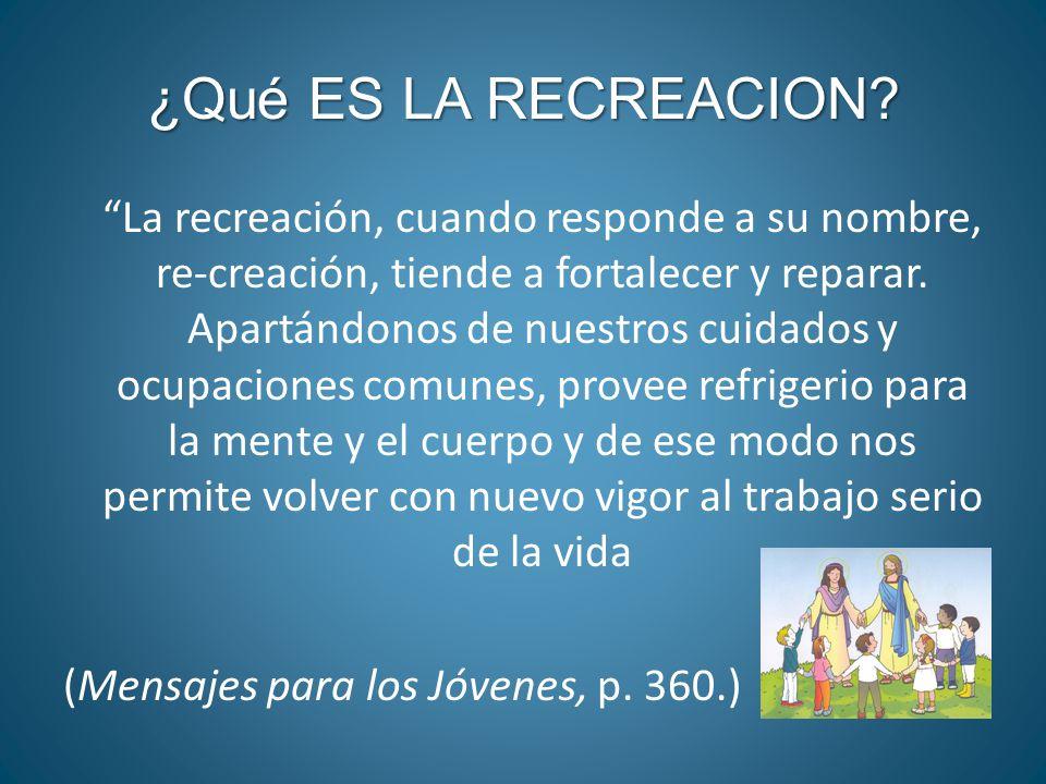 Qu es la recreacion la recreaci n cuando responde a for Pececillo nuevo de cualquier especie