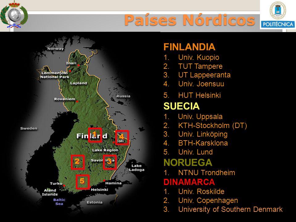 Países Nórdicos Países Nórdicos FINLANDIA SUECIA NORUEGA DINAMARCA