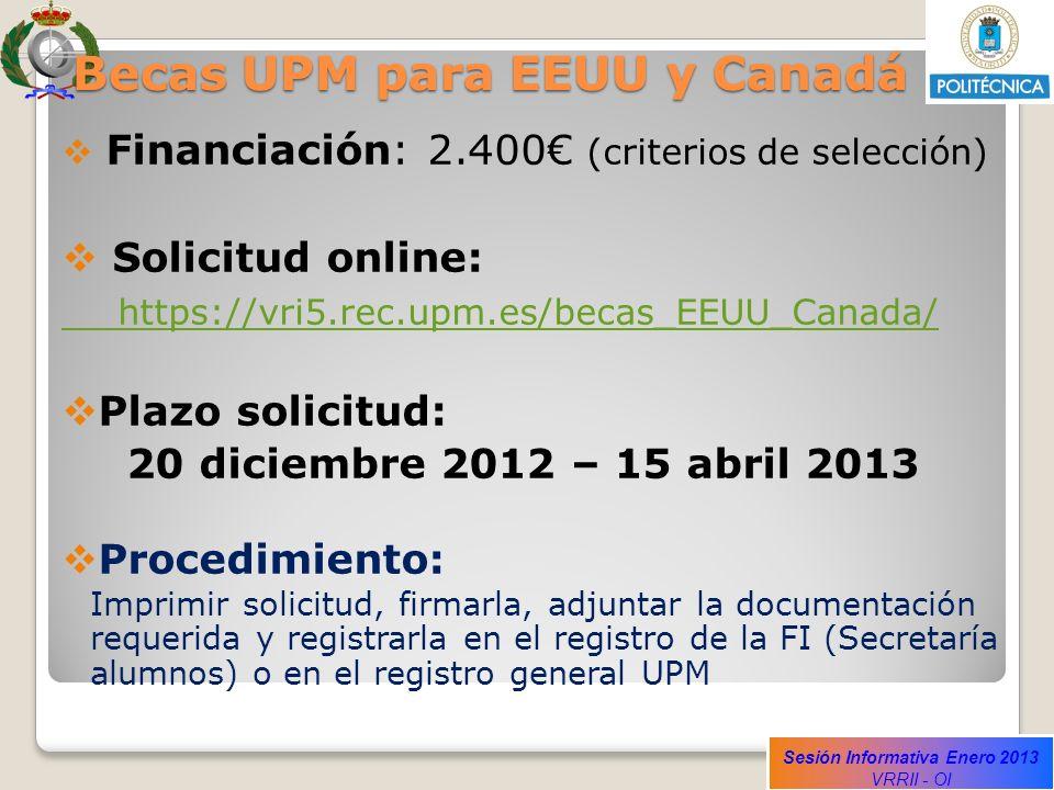 Becas UPM para EEUU y Canadá