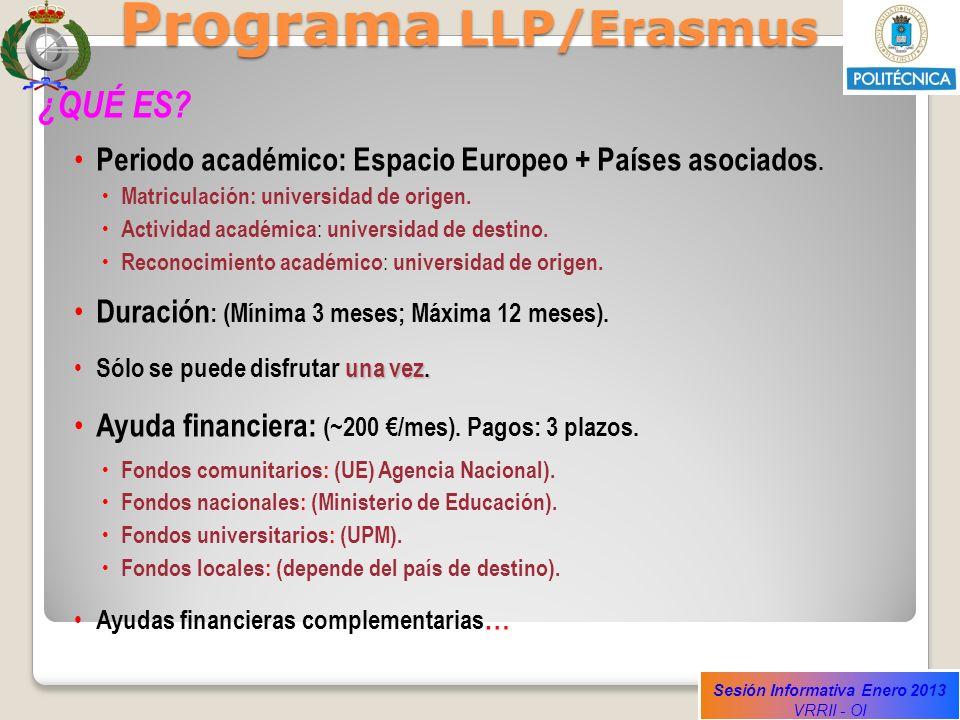 Programa LLP/Erasmus ¿QUÉ ES