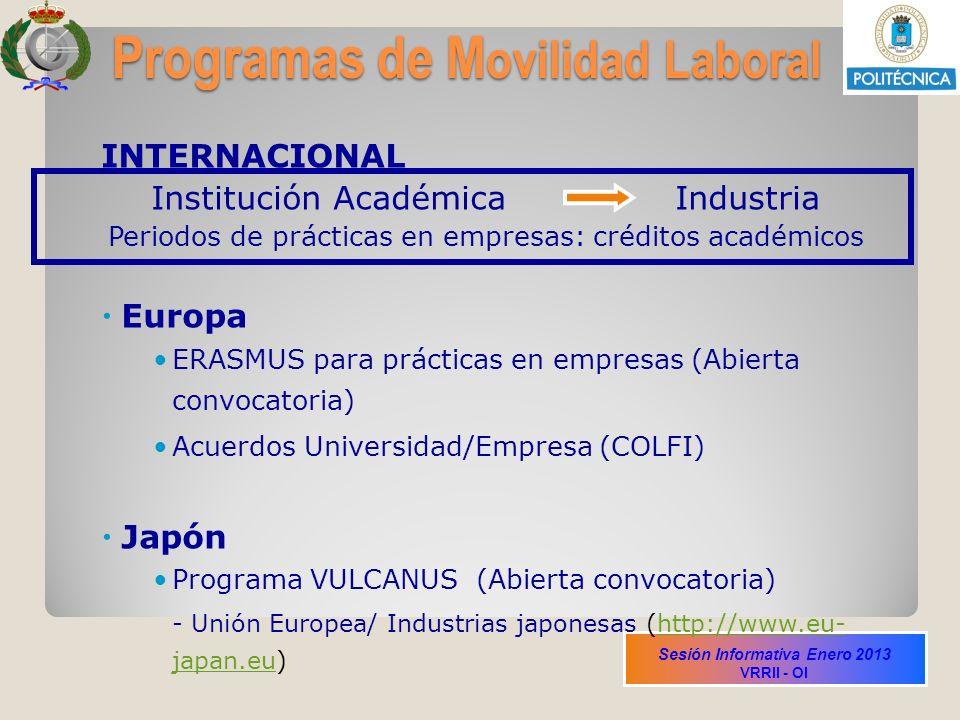 Programas de Movilidad Laboral