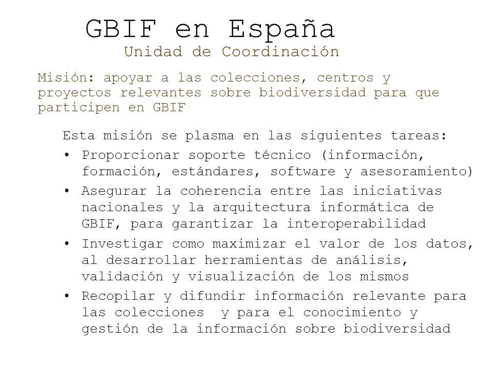 GBIF en España Unidad de Coordinación