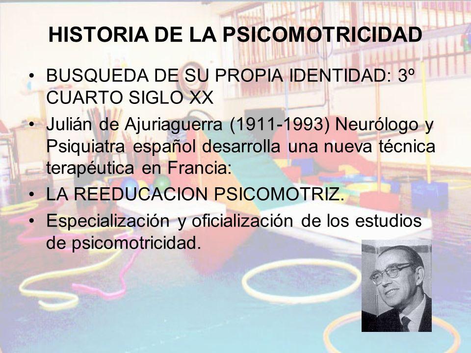 HISTORIA DE LA PSICOMOTRICIDAD