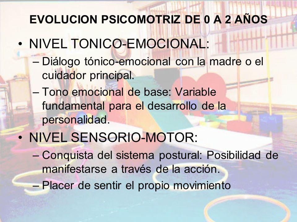 EVOLUCION PSICOMOTRIZ DE 0 A 2 AÑOS