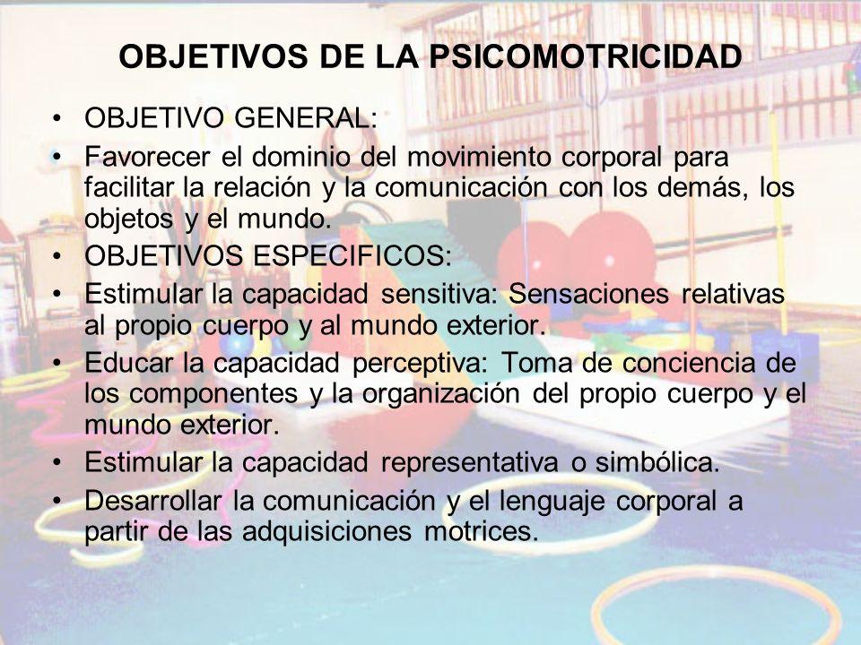OBJETIVOS DE LA PSICOMOTRICIDAD