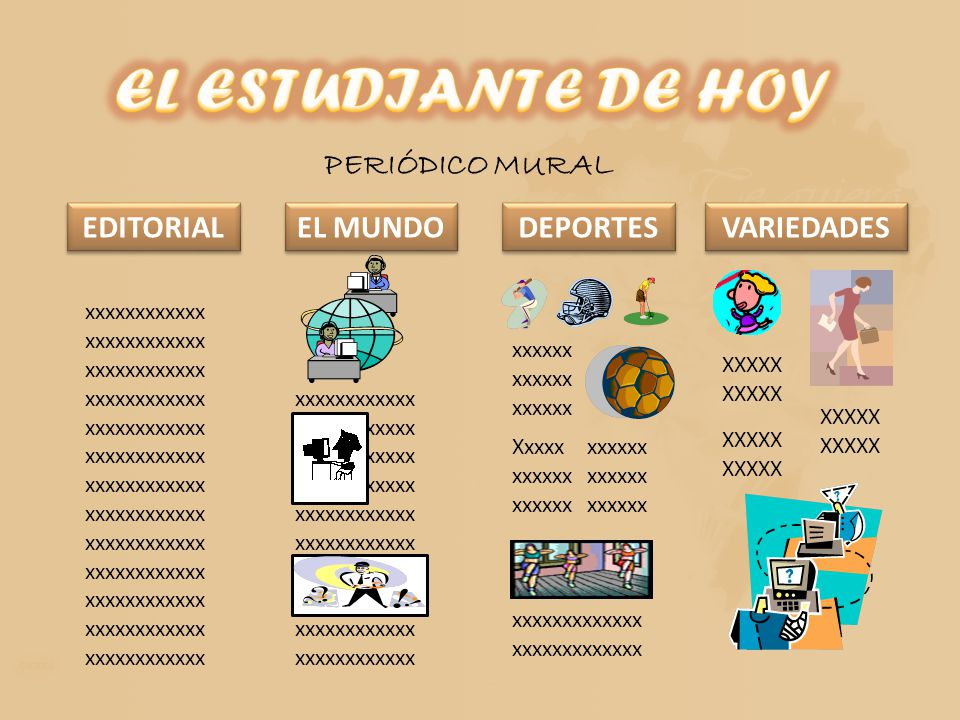 Ejemplo de editorial de un peridico mural revista for Editorial de un periodico mural