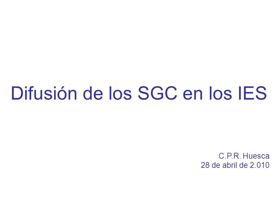 Difusión de los SGC en los IES