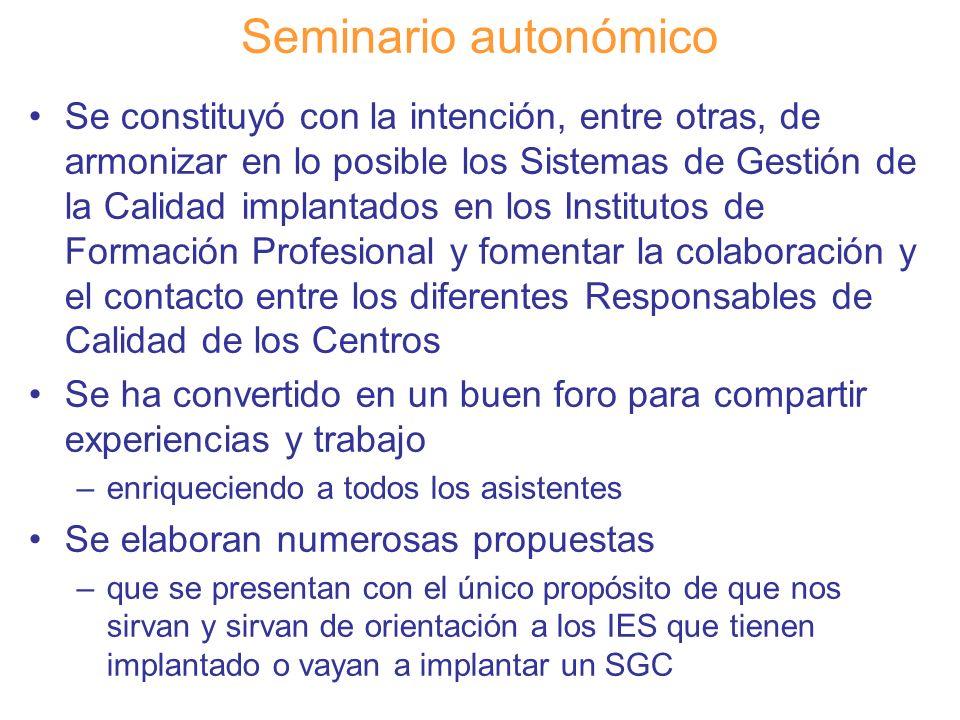Seminario autonómico