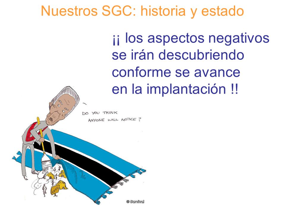 Nuestros SGC: historia y estado