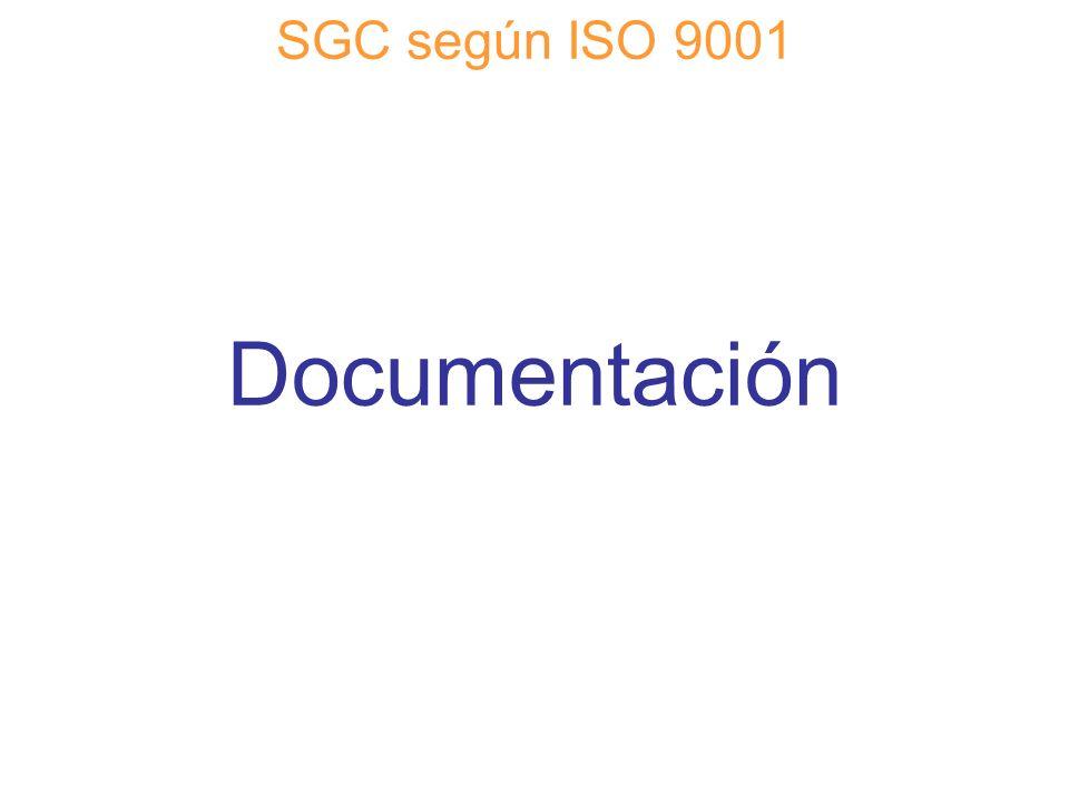 SGC según ISO 9001 Documentación